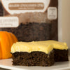 Frosted Pumpkin Brownie Cake