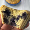Lemon Blueberry Protein Cake