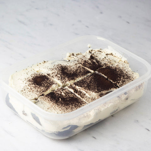sugar-free icebox cake in meal prep container