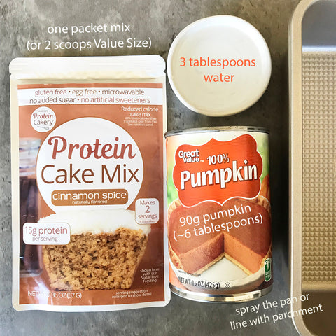 Pumpkin Spice Protein Cake Ingredients