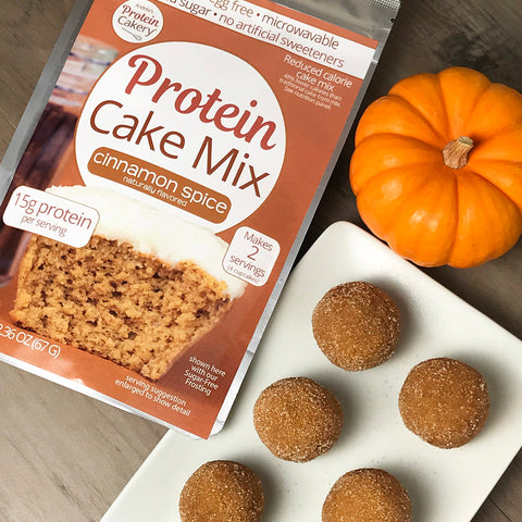Pumpkin Spice Protein Cake Balls Recipe by Andrea's Protein Cakery