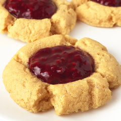 Sugar-Free Raspberry Thumbprint Protein Cookies
