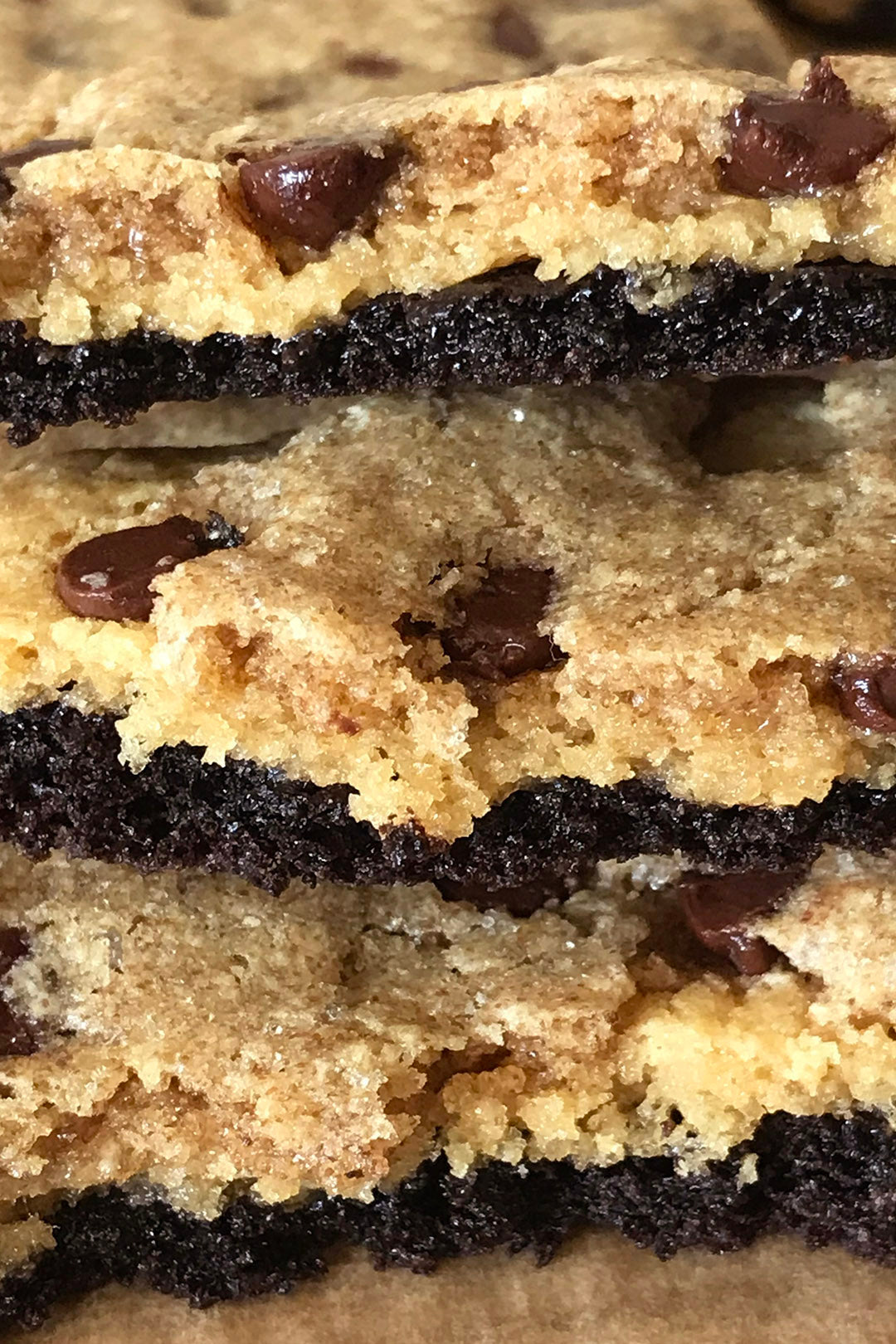 triple layer protein cookie bars - protein cakery