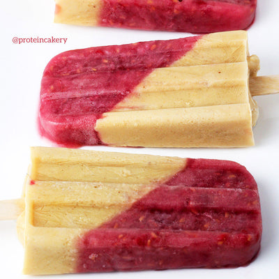Peanut Butter and Jelly Protein Popsicle Recipe