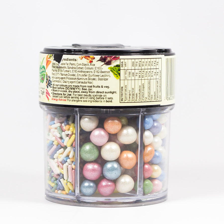 Natural Sprinkles - Rainbow Pearl and Crystal Mix