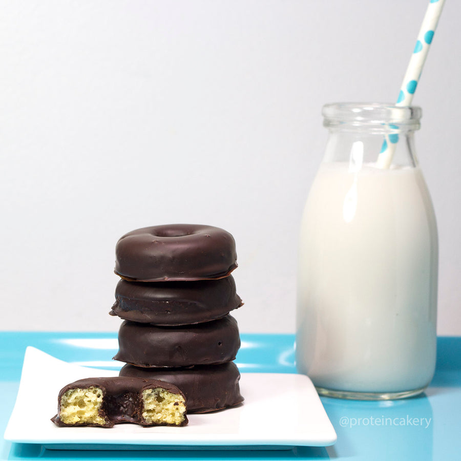 Recipe - Chocolate Covered Mini Protein Donuts