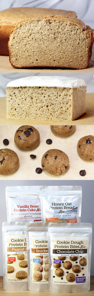 Cake, Bread, and Cookie Dough Protein Bites Mixes