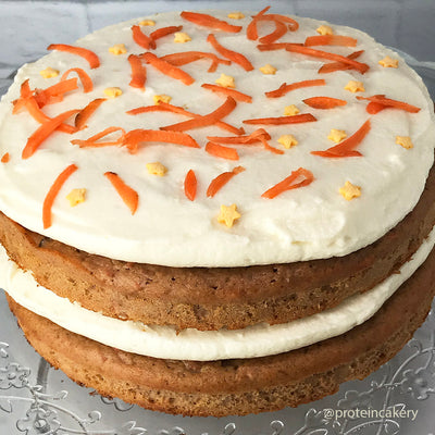 Recipe - Protein Carrot Cake with Sugar-Free Cream Cheese Frosting