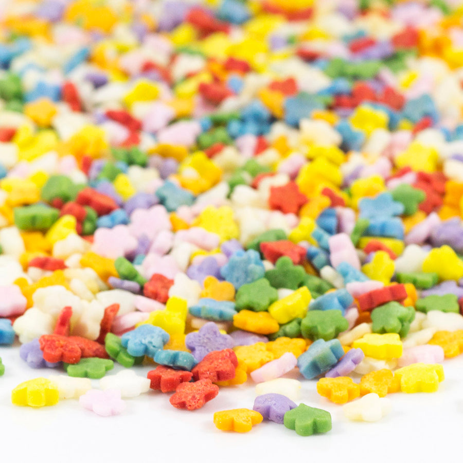 Natural Sprinkles - Rainbow Flower Confetti