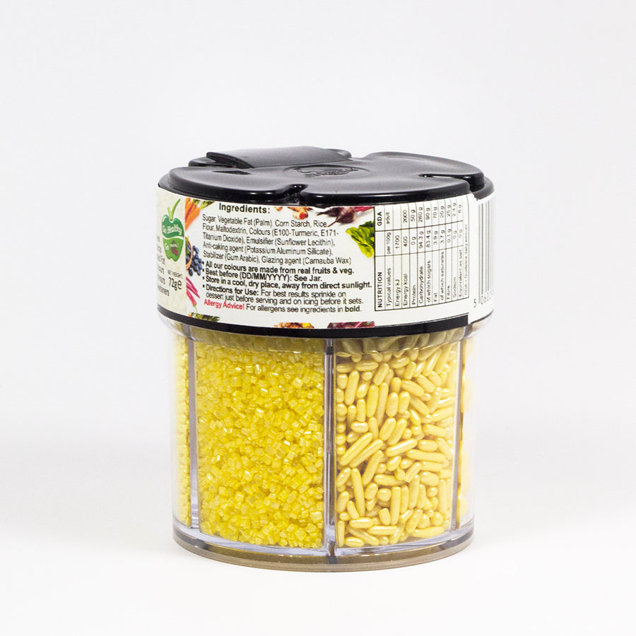 Natural Sprinkles - Yellow Crystal Pearl Sprinkle Mix