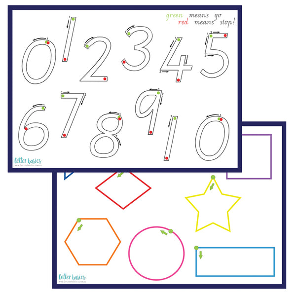 HW04. 123 Numbers Math Play Dough Guide - Plastic Print