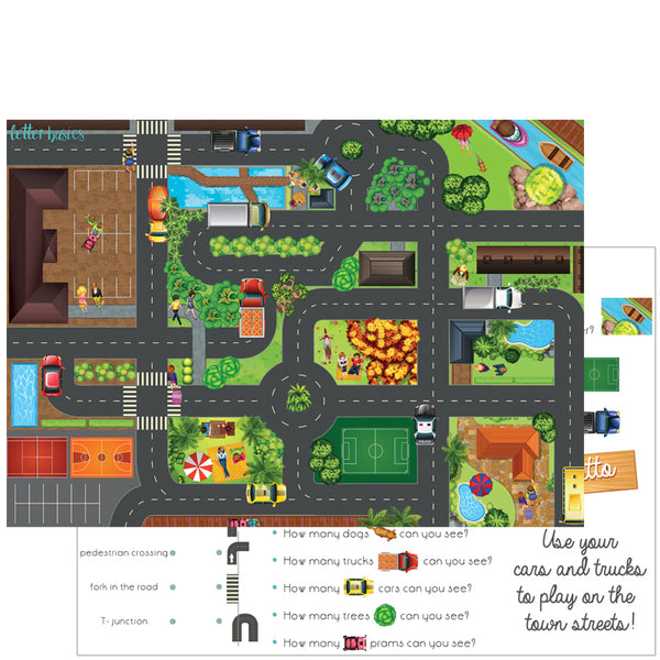 AD02. City Streets Activity Mat - Digital Download