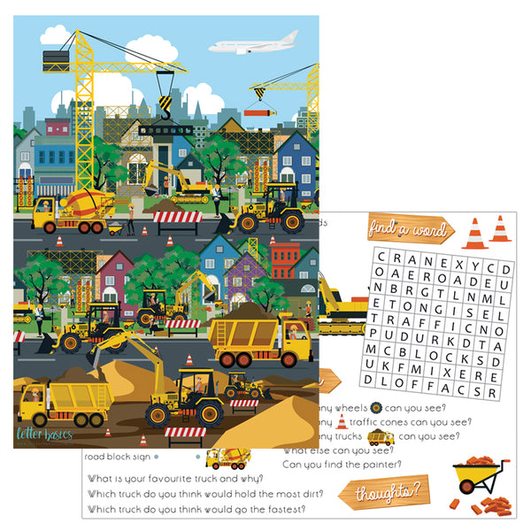 AD01. Construction Activity Mat - Digital Download