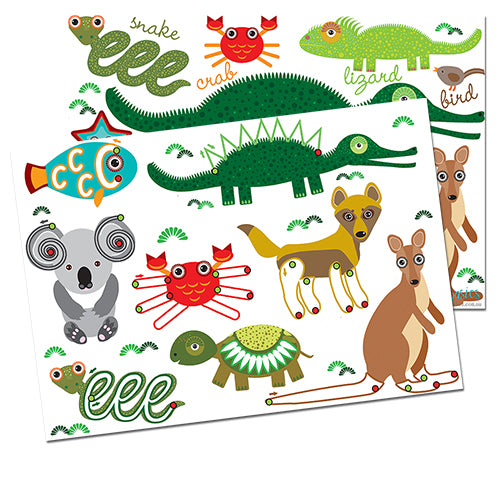 PRWD05. Aussie Animals Pre-Writing Activity - Digital Download