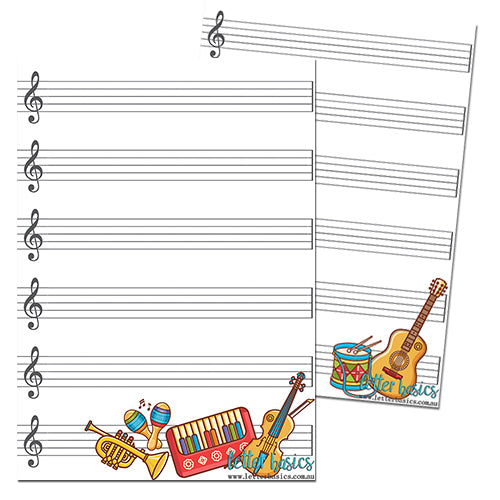 AD06. Music Sheet Activity Mat, OLA - Digital Download