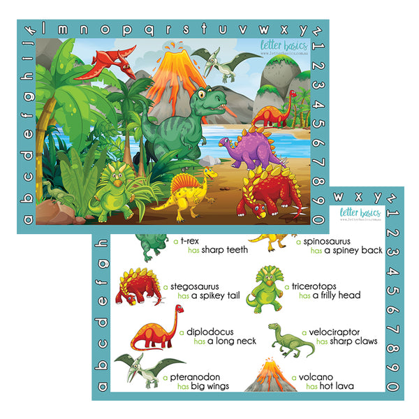 PRWD03. Place Mat, Dinosaurs - Digital Download