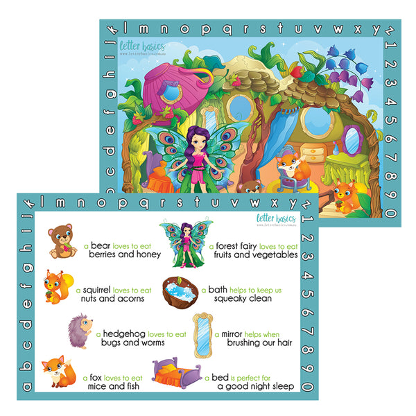 PRWD03. Place Mat, Forest Friends - Digital Download