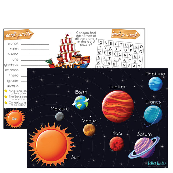 AD04. Solar System Activity Mat, OLA - Digital Download