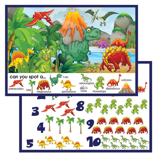 PRWD02. Spotto Place Mat, Dinosaurs - Digital Download
