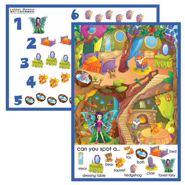 PRWD02. Spotto Place Mat, Forest Friends - Digital Download