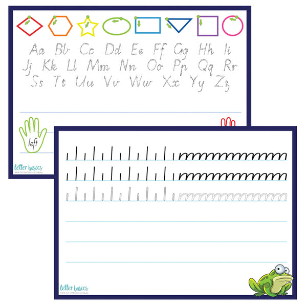 HWD13. Kindy Desk Reference Guide, blank lines - Digital Download