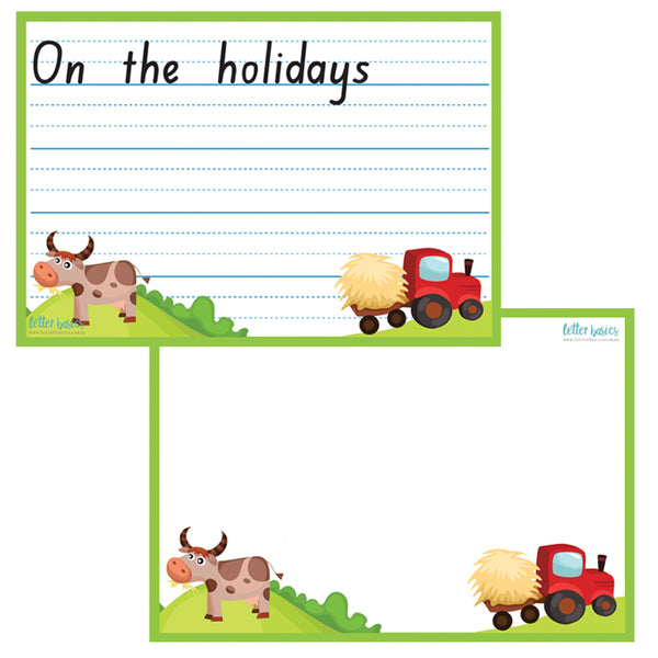 HW10. On the Holidays Handwriting Guides - Plastic Print