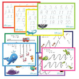 HWD05. Kindy Set of 5 Handwriting Guides, dotted thirds - Digital Download