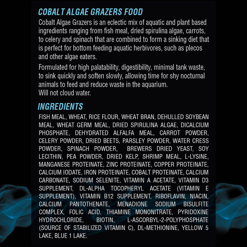 Algae Grazers Fish Food Ingredients