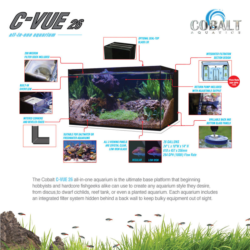 C-Vue 26 Gallon All-In-One Aquarium