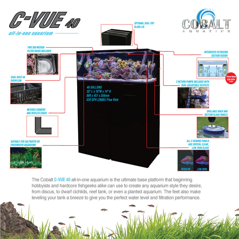 C-Vue 40 Gallon All-In-One Aquarium