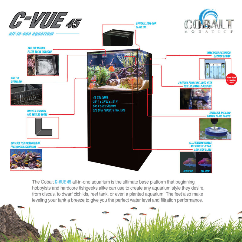 C-Vue 45 Gallon All-In-One Aquarium