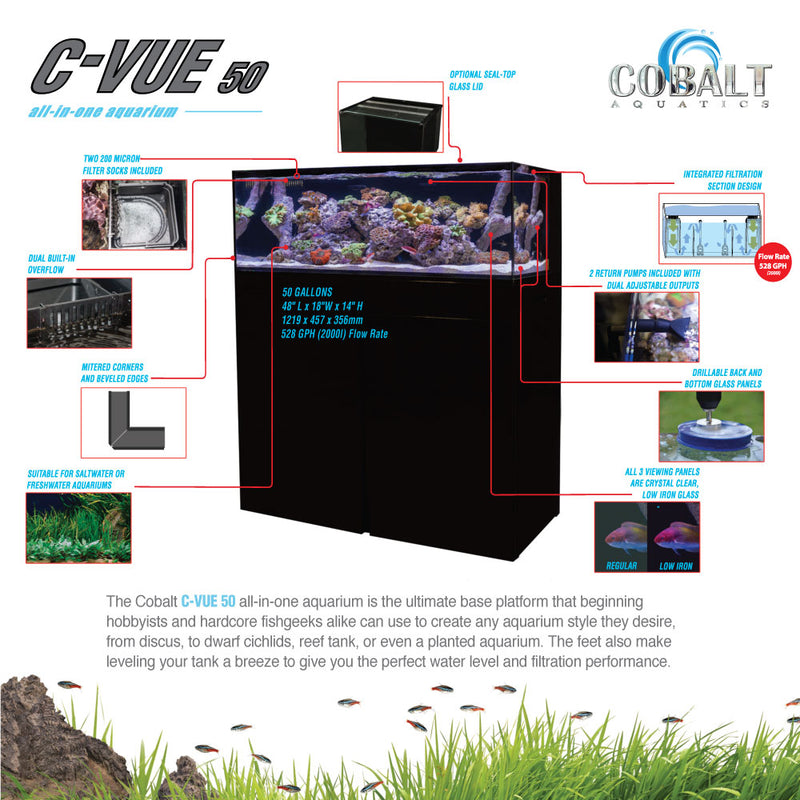 C-Vue 50 Gallon All-In-One Aquarium