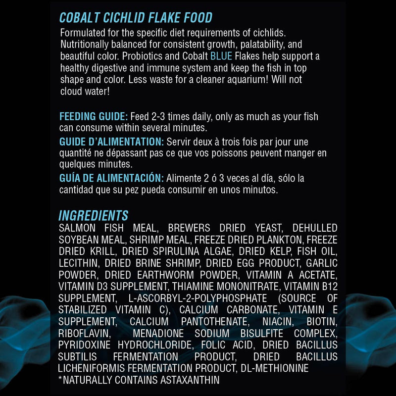 Cichlid Flake Ingredients