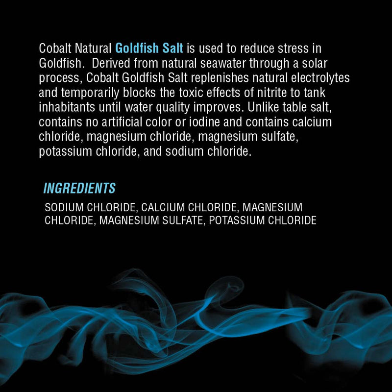 Goldfish Salt Conditioner Label