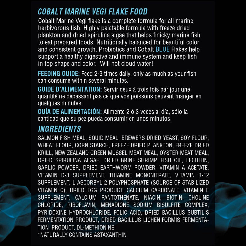 Marine Vegi Flake Ingredients