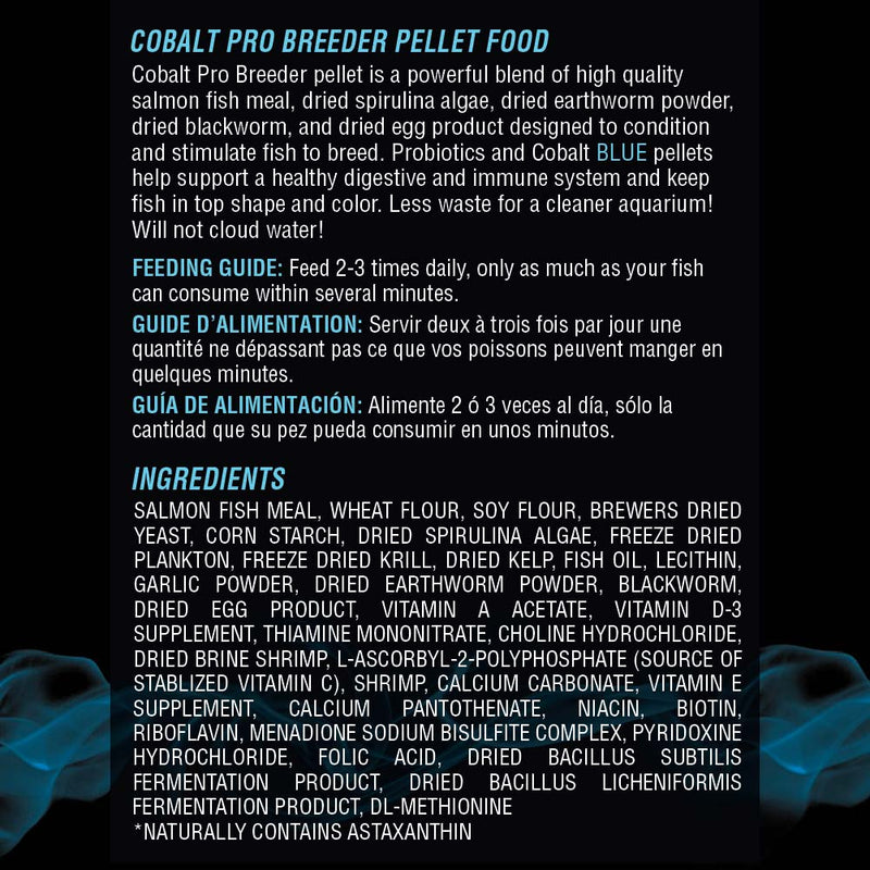 Pro Breeder Pellets Ingredients