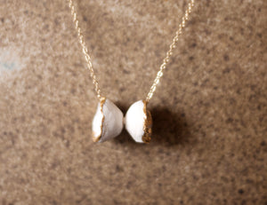 Necklace Hana pair white