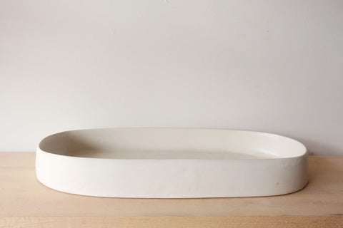 White Fruit Bowl