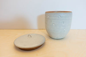 Made-to-order Stoneware Jar half moon