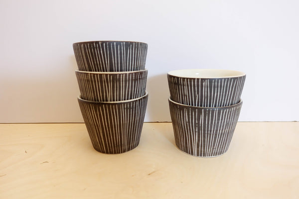 Cup Grey Stripe