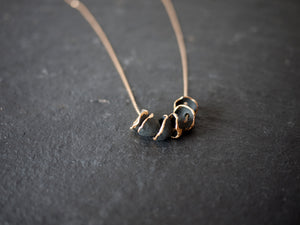 Necklace Hana stack black