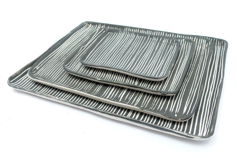 Line Dark Grey Tray