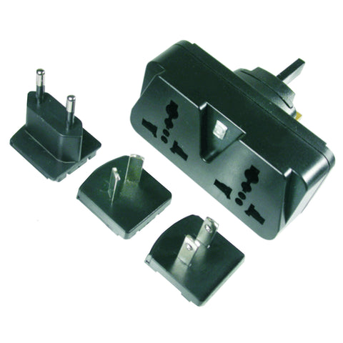 Universal Worldwide Duplex Dual Outlet Plug Adapter