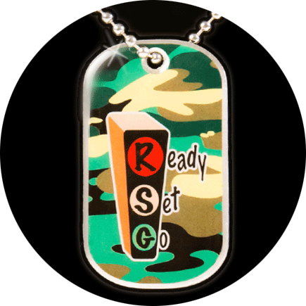 RSG-011 Green Camouflage Ready Set Go Pendant