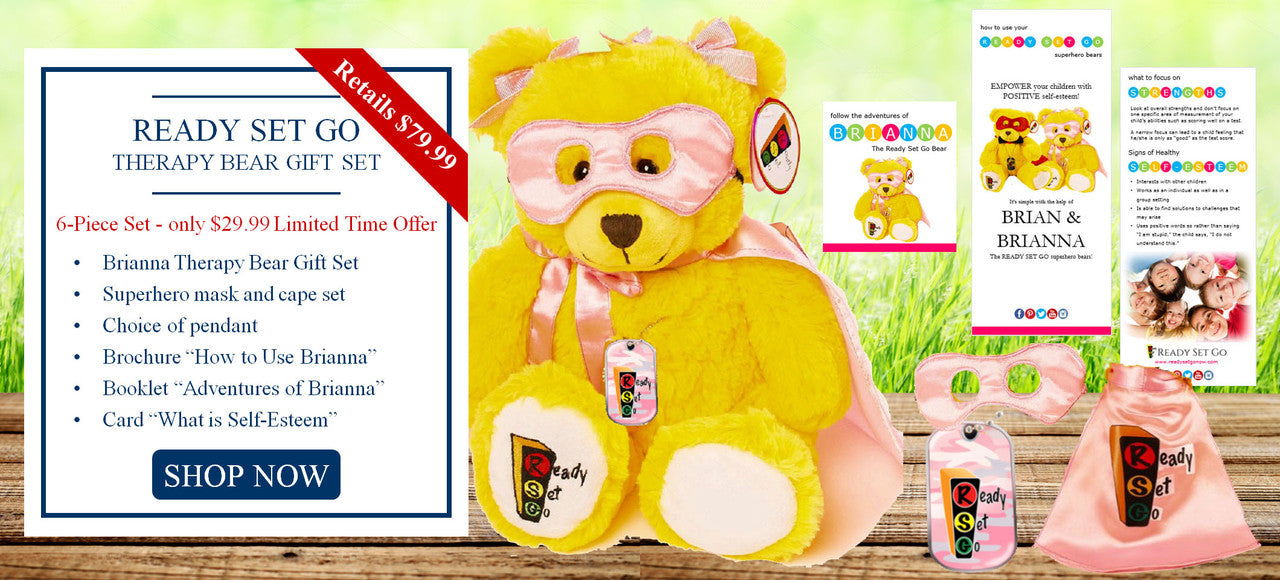 Ready Set Go Brianna Therapy Bear Gift Set