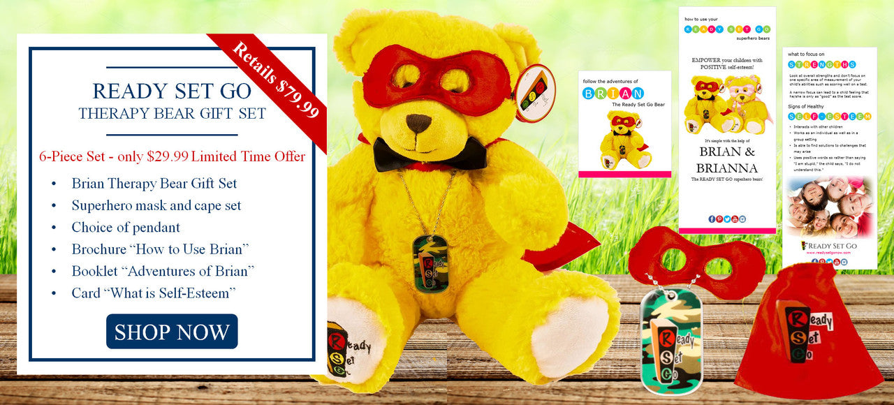 Ready Set Go Brian Therapy Bear Gift Set