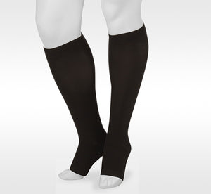 Juzo Basic 4411AD10 Black Knee High Open Toe Compression Stockings  20-30 mmhg