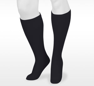 Juzo Basic Casual 4701AD10 Black Knee High  Full Foot Compression Socks 20-30 mmhg