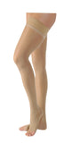 Jobst UltraSheer 20-30 mmHg Open Toe Petite Dot Band Thigh High Women's Compression Stockings