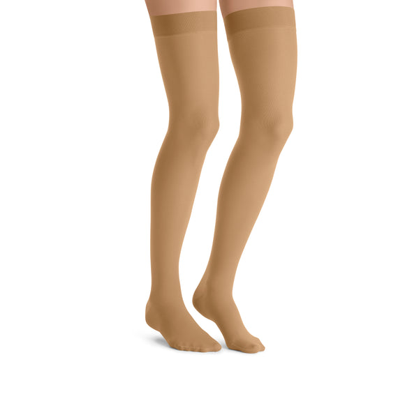 Jobst UltraSheer 30-40 mmHg Closed Toe Petite Lace Band Thigh High Women's Compression Stockings